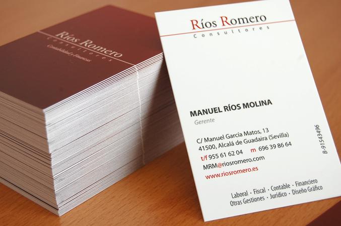tarjeta de visita de rios romero consultores