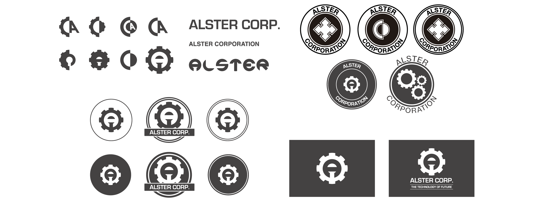 desarrollo de logotipo negro
