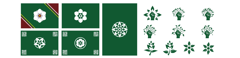 bocetos de banderas verdes