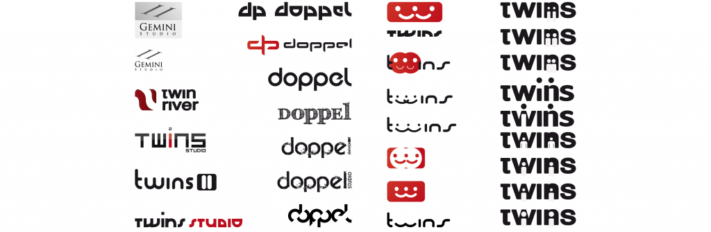 desarrollo de logotipo de twins