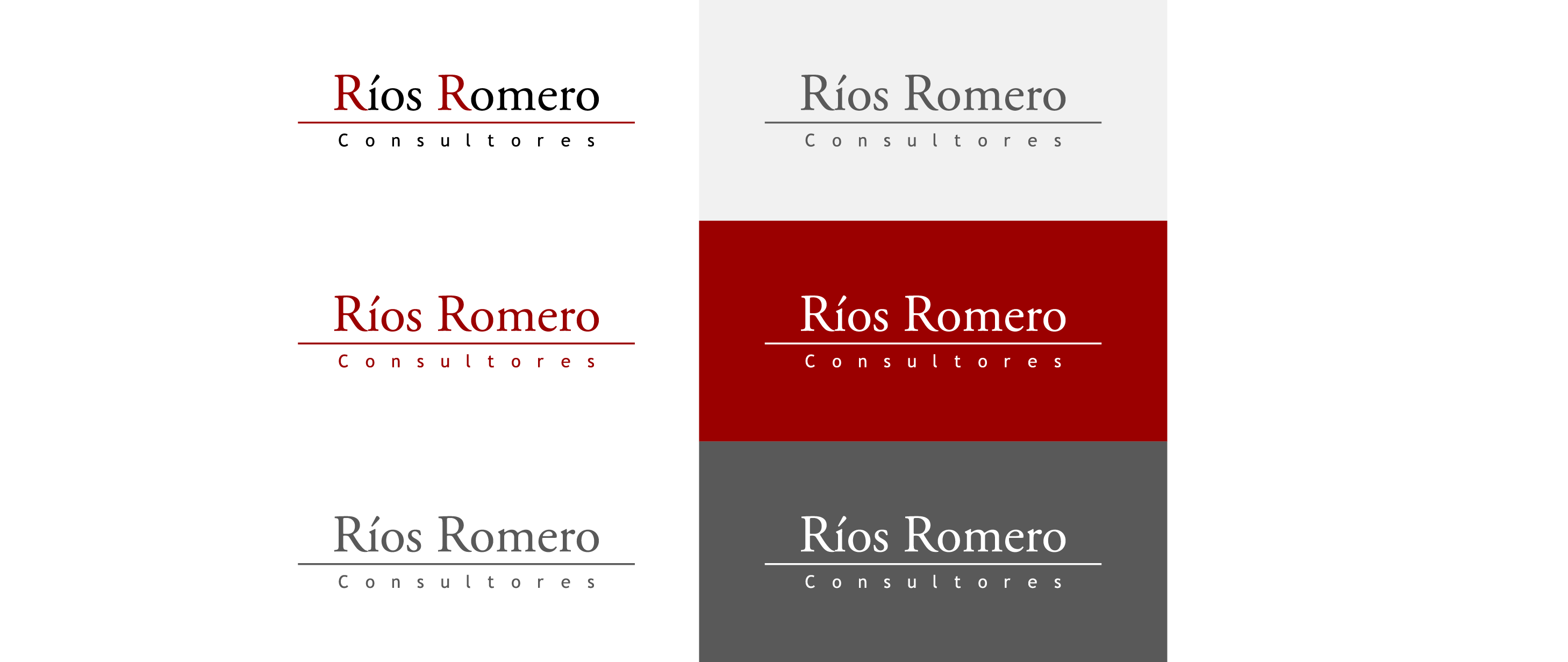 logotipo rrc en distintos colores