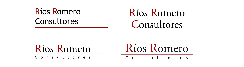 desarrollo del logotipo rrc