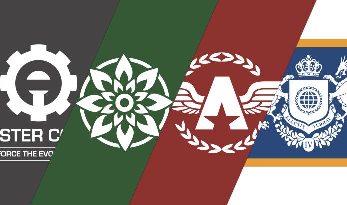 collage de banderas inventadas