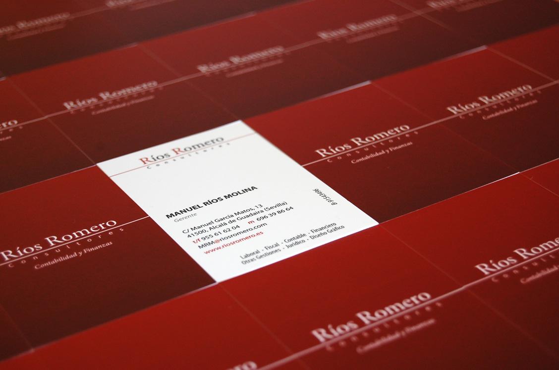 tarjetas de visita roja y blanca