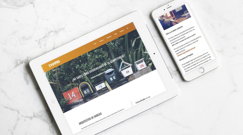 web de twins studio responsive